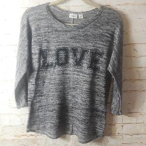 CATO Black White Lightweight Sweater Top Sz S